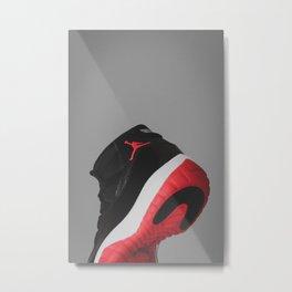 Air Jordan 11 - Bred - Print 1 Metal Print
