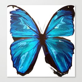 Beautiful Blue Butterfly Proceeds donated to DebRa.org Canvas Print