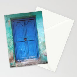 Blue Indian Door Stationery Cards