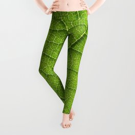 green leaf structure XII Leggings