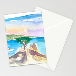 Lone Cypress Pebble Beach 17 Mile Drive Seaview Stationery Cards