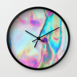 Iridescence - Rainbow Abstract Wall Clock
