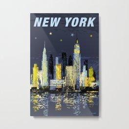 Retro style New York travel poster Metal Print