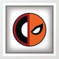 deathstroke Art Prints featuring Wilson VS Wilson (Deadpool Deathstroke) by Timmy D. Matias