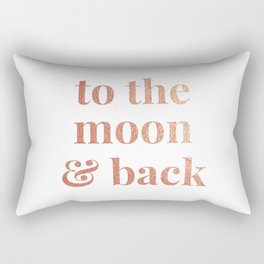 to the moon and back - white Rectangular Pillow