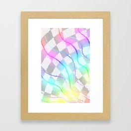 Fractured Colors Framed Art Print