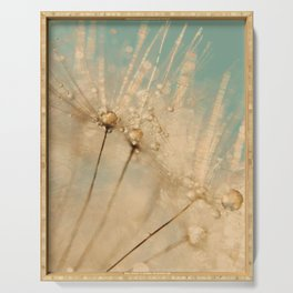 dandelion gold and mint Serving Tray