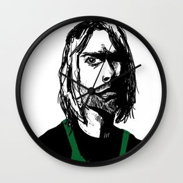 This is the Time Nirvana Got a Job at a Coffee Chain Wall Clock