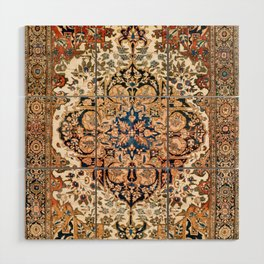 Ferahan Arak  Antique West Persian Rug Print Wood Wall Art