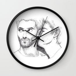 Nuzzling Wall Clock