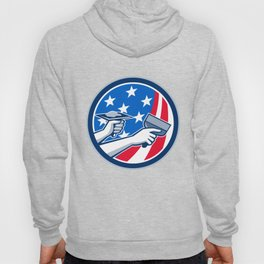 American Drywall Repair Service Flag Circle Retro Hoody