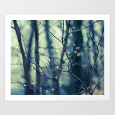 Woodland Holiday  Art Print