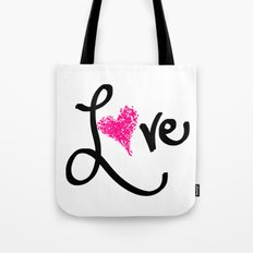 Love with your heart Tote Bag