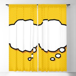 Comic Book THINK Blackout Curtain