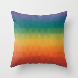 Colorful Grunge Texture Pattern Seamless Abstract Rainbow Multi Colored Illustration Throw Pillow