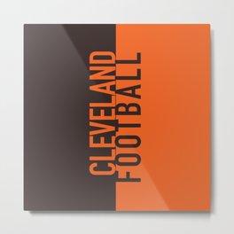 Cleveland Football Metal Print
