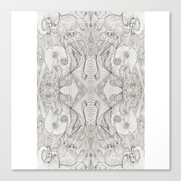 Lines (oh, let's enjoy the wild unknown, baby!) Canvas Print