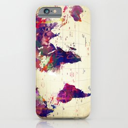 map painting  iPhone Case