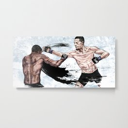 Nate Diaz vs. Michael Johnson Metal Print