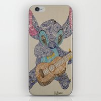 stitch iPhone & iPod Skins featuring Stitch by Julia