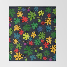 Fig Tree by Night Throw Blanket