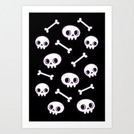 Cute Skulls Art Print