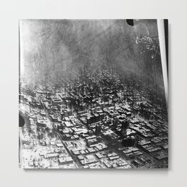 The Slim City Metal Print