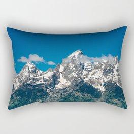 Grand Tetons Panorama Rectangular Pillow