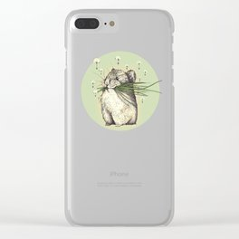 Hamster Love Clear iPhone Case