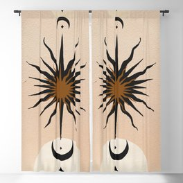 Abstract Sun Blackout Curtain