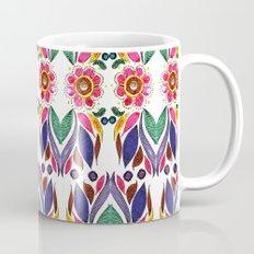 Gypsy Floral on White Mug