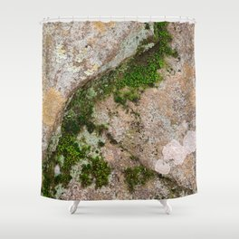 Yin Yang Moss Stone Shower Curtain