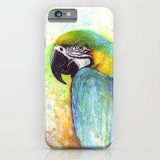 Bird Watercolor Animal Macaw iPhone 6s Slim Case