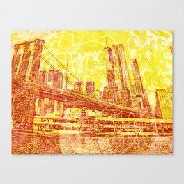 big yellow apple Canvas Print