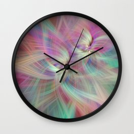 Rainbow Colored Abstract. Concept Divine Virtues Wall Clock
