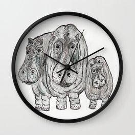 Hippos Wall Clock