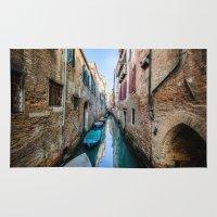 venice Area & Throw Rugs featuring Venice by GF Fine Art Photography