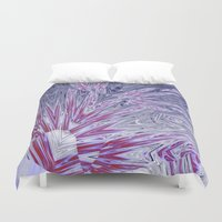 ice Duvet Covers featuring ice by donphil