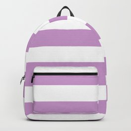 Light grayish magenta - solid color - white stripes pattern Backpack