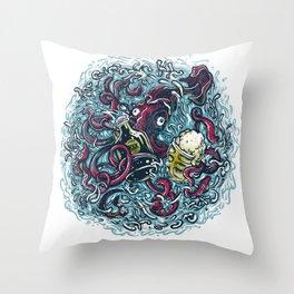 Drinkin Kraken Throw Pillow