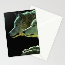 Moonlight Wolves Stationery Cards