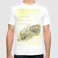 The Chase MEDIUM White Mens Fitted Tee