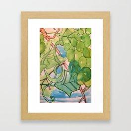 Green Grapes Framed Art Print