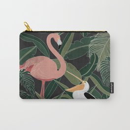 Flamingo and Pelican Carry-All Pouch