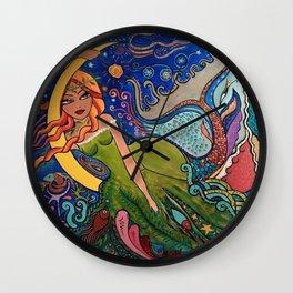 La charmeuse au clair de lune Wall Clock