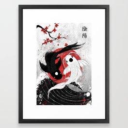 Koi fish - Yin Yang Framed Art Print