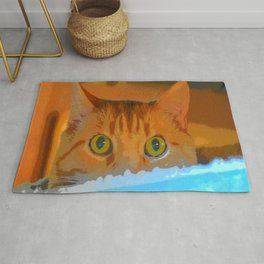 Sir Watson Tabby Digital Cat Rug