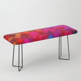 Rainbow Bubbles Abstract Design Bench