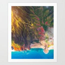 Sunset On The Beautiful Na Pali Coast Art Print