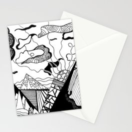 Zentangle Mountain Stationery Cards
